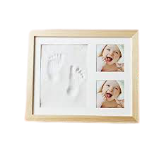Baby Clay Handprint and Footprint Photo Frame - Gift For Newborn Baby