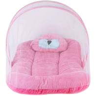 Bed With Mosquito Net for babies - Gift For Newborn Baby