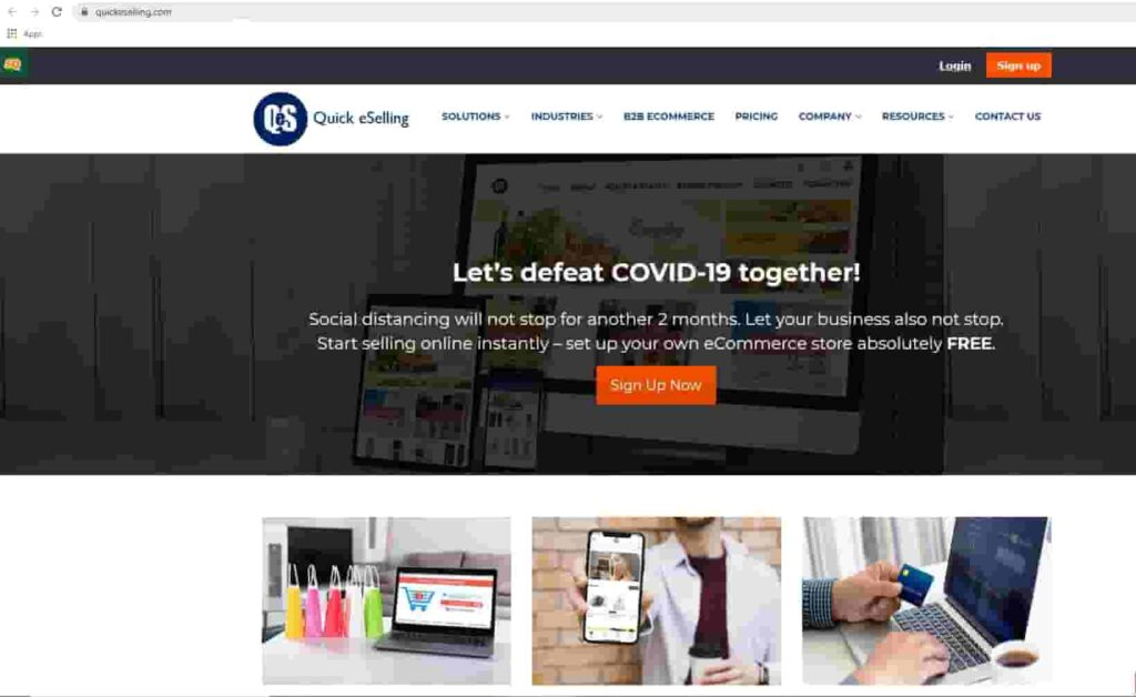 Quickselling home page