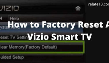 Reset Vizio Smart TV