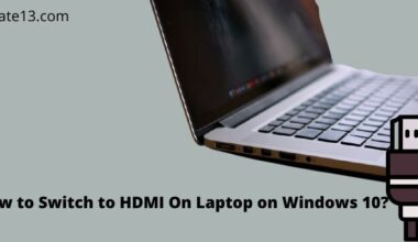 Switch to HDMI On Laptop on Windows 10