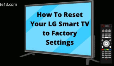 Reset LG Smart TV to Factory Settings