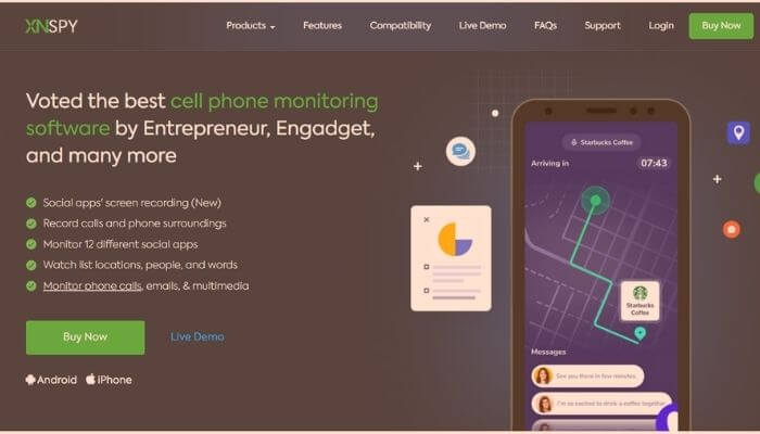 XNSPY - Mobile Phone Spy app