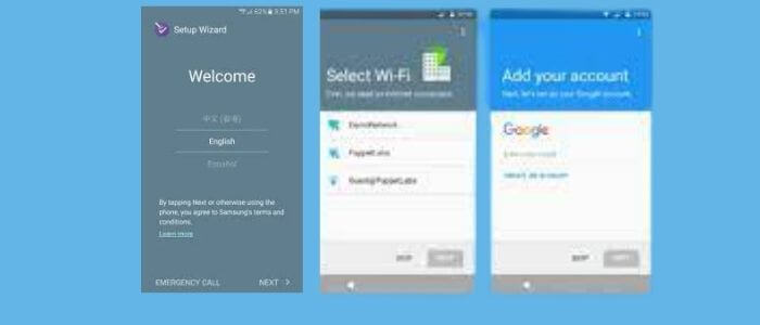How to Run setup wizard on Android