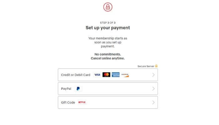 select a payment method and pay for your selected plan