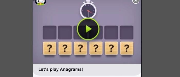 Anagrams game pigeon