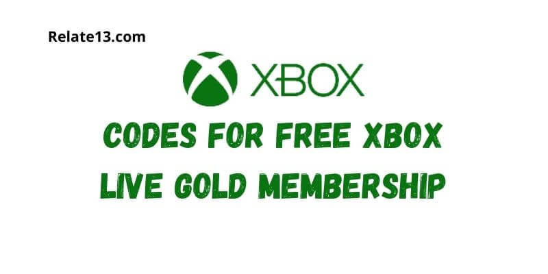 Codes For Free Xbox Live Gold Membership