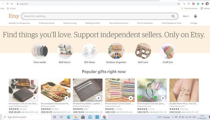 Etsy - The best alternative to ebay