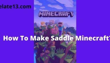 How To Make Saddle Minecraft