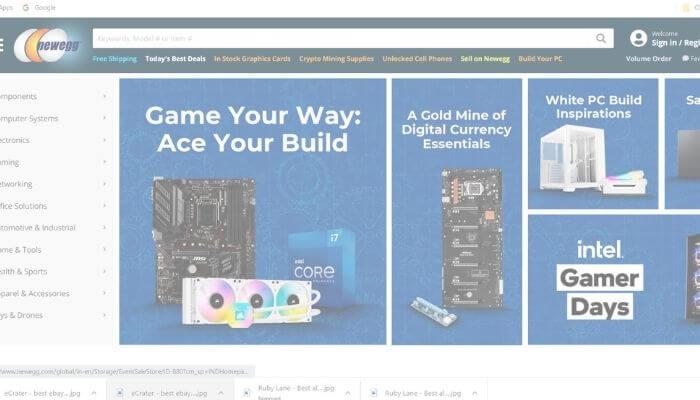 Newegg - Sites Like eBay