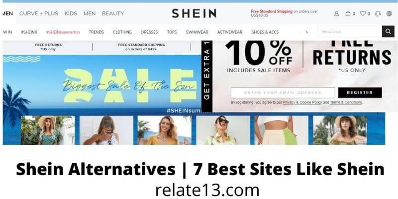 Sites Like Shein