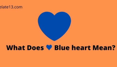 What Does Blue heart Mean