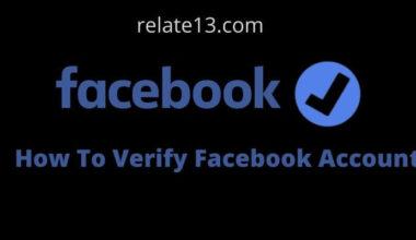 How To Verify Facebook Account