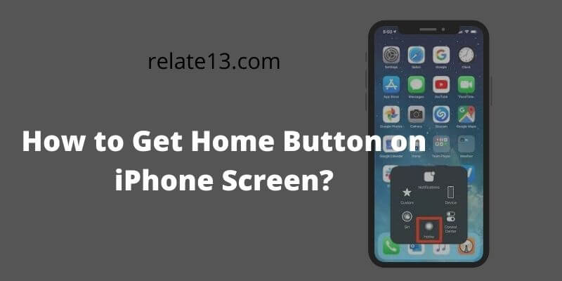 Home Put Button on iPhone Screen