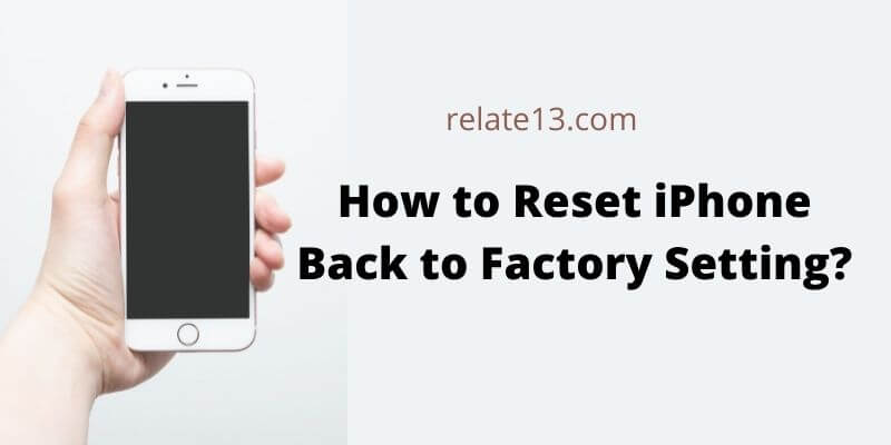 how reset iphone to factory settings