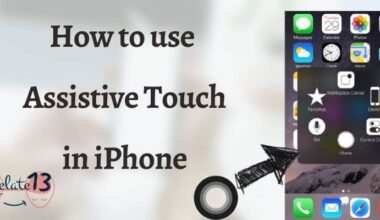 Assistive touch in iPhone