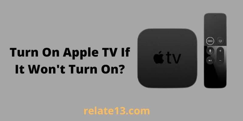 Turn On Apple TV