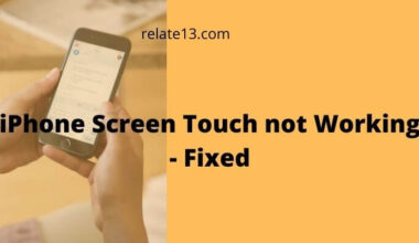 iPhone Screen Touch not Working