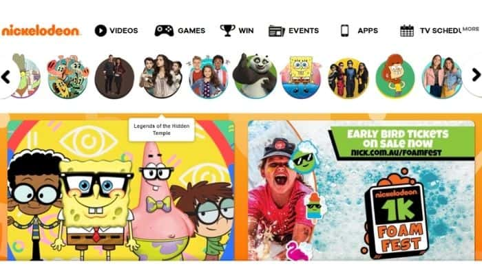 Nick - Best site to watch free cartoons