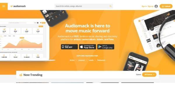 Audiomack Homepage