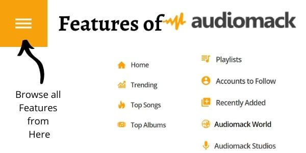 Features of Audiomack