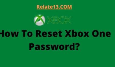 How To Reset Xbox One Password