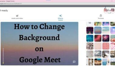 Change Background on Google Meet
