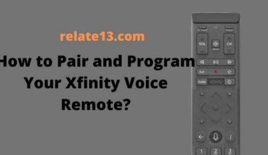 Pair Program Your Xfinity Voice Remote