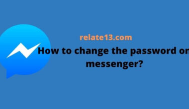 How to change the password on messenger
