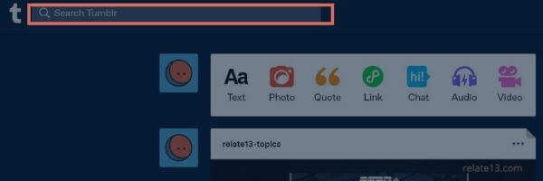 Performing a search on tumblr