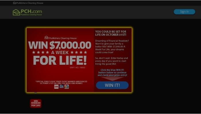 Publishers clearing house app