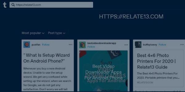 Search on Tumblr using URLs