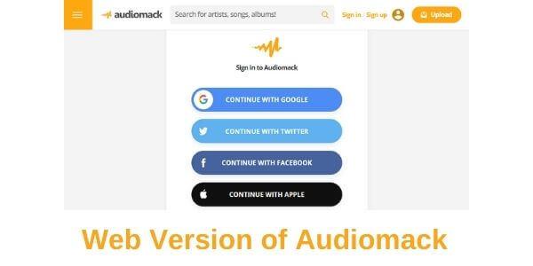 Web Version of Audiomack